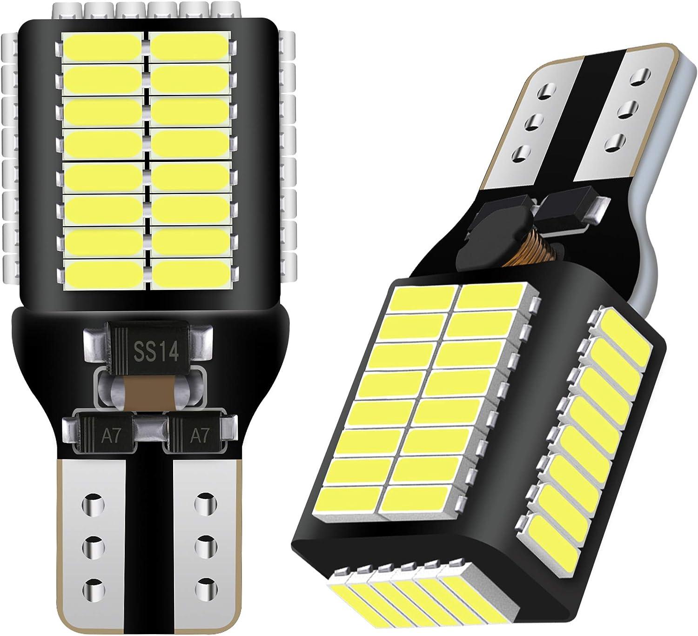 AGLINT T15 W16W LED Bombillas CANBUS Error Gratuito 54SMD 12V 24V Para RV Luces Interiores Coche Luz de Estacionamiento Copia de seguridad Luz de Marcha Atrás Bombilla