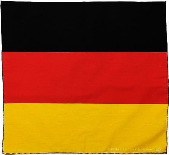 Toalla Alemania Bandera Alemania Pañuelo Bandana Pañuelo Toalla de Nicki Aprox. 51 x 51 cm Impresa por una Cara.: Amazon.es: Deportes y aire libre