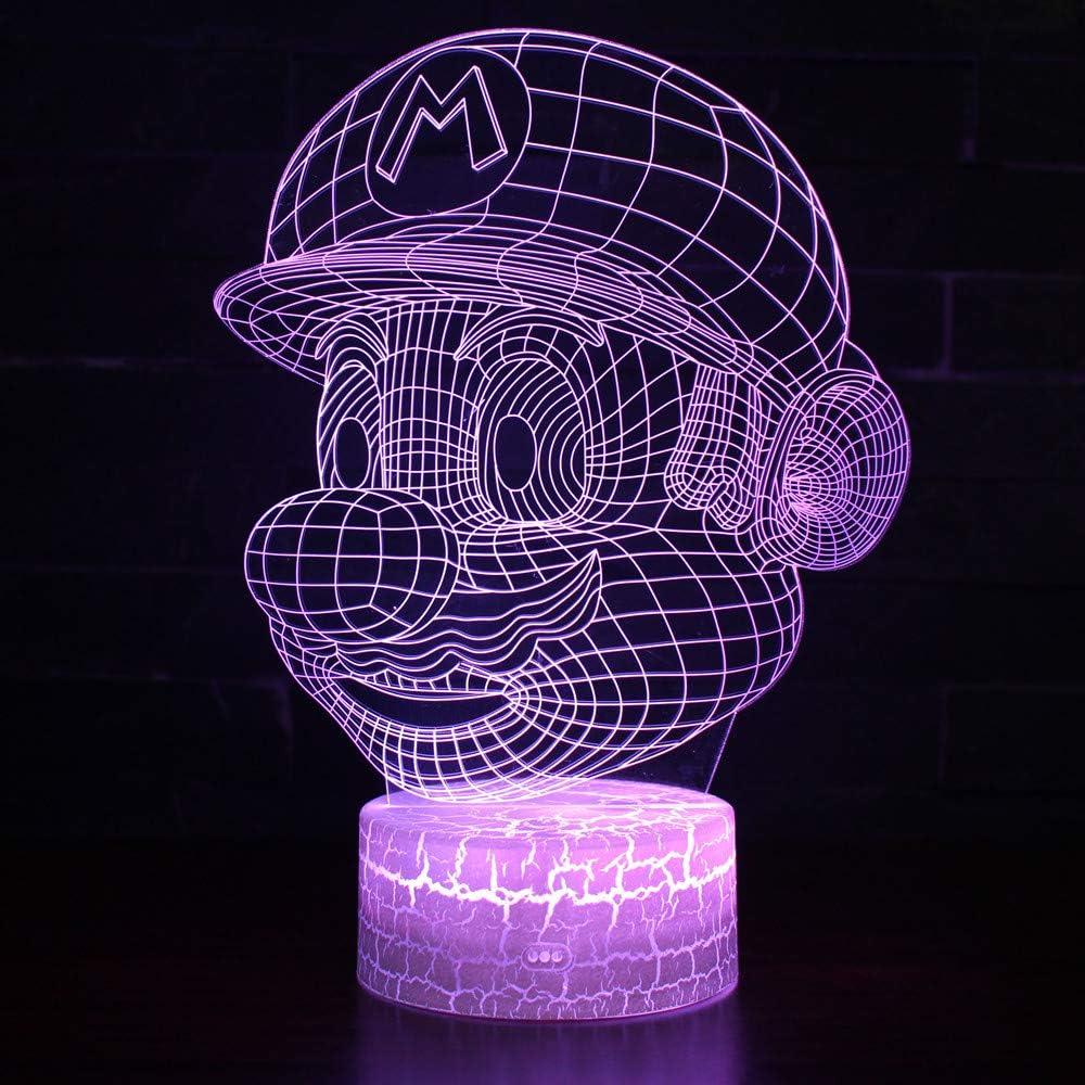 3D Lámpara de Escritorio Win-Y LED 7 del tacto del color de la lámpara del dormitorio del hogar decoración de la oficina para los niños y regalo de Navidad de cumpleaños (G2)
