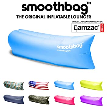 SmoothBag Premium Inflatable Lounger Sofa | Banana Chair Hammock For  Camping, Hiking, Festivals,