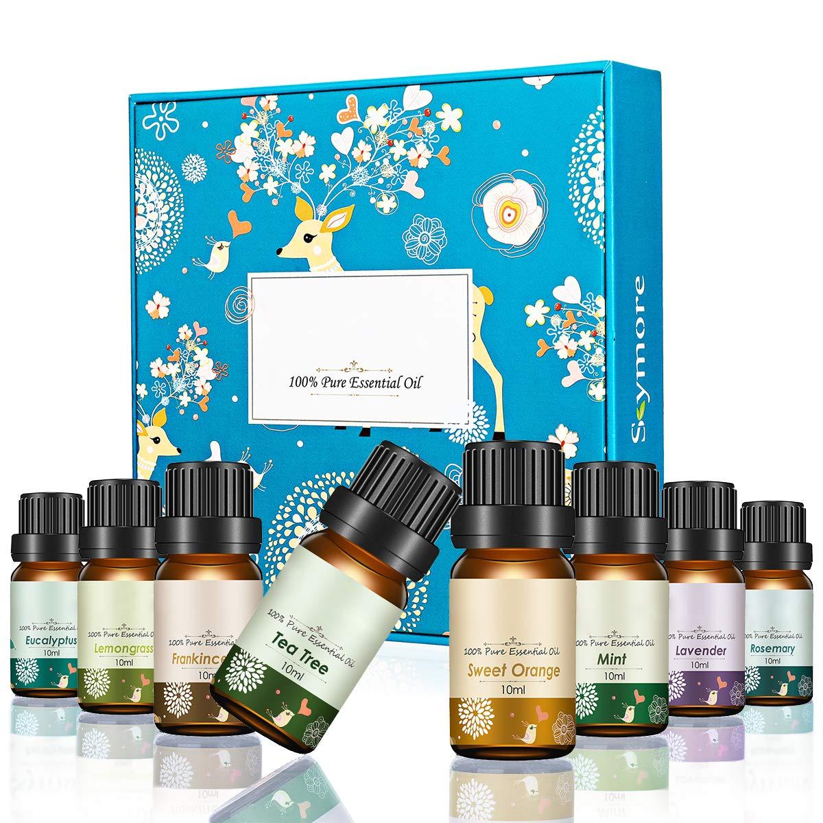 Janolia Aceites Esenciales, de Plantas Naturales para Aromaterapia, Set de Navidad Eucalipto, Hierba