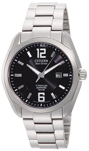 Citizen BM7080 - 54E del hombres Eco Drive Titanio Reloj: Amazon.es: Relojes