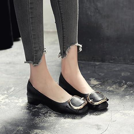 BOTAS HAIZHEN Ladies Girls Botines Zapatos de tacón bajo para mujer Para 18-40 años