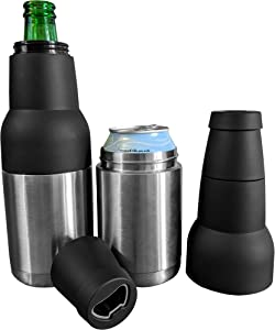 Bottle Thermos | Beer Bottle Cooler - Insulated Beer Bottle Holder - Stainless Steel Beer Cooler Insulator - Bottle Coozie Insulated to Keep Beer Cold - Portable Beverage Coozies Can Coolers for Soda