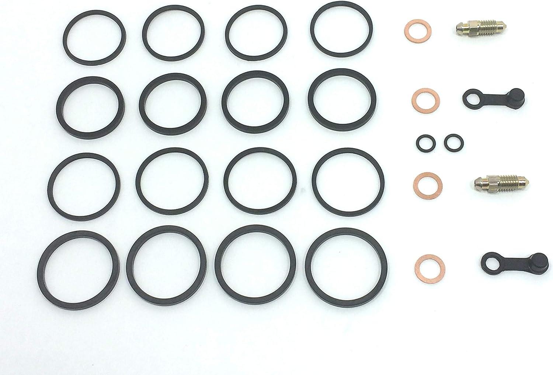 Brake Caliper Seal Rebuild Kit for Brembo/P4 2 30//34 65mm 2 Pad Goldline Front Brake Calipers on Ducati//Aprilia//Moto Guzzi//KTM Motorcycles