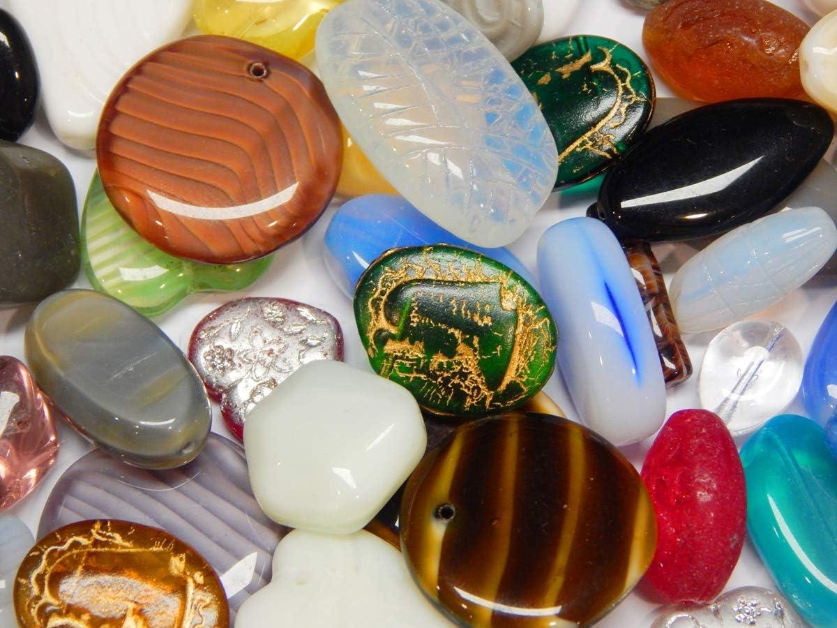 100 g Preciosa perlas de cristal Boehmische Fantasía mixtas grandes perlas de cristal checo multicolor juego de manualidades para la fabricación de joyas (juego de 5)