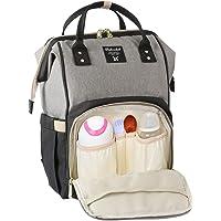 妈咪包 背包 大容量 保温袋 防盗口袋 防水尿布更换垫 附带挂绳 多功能 婴儿用品收纳 包 上班 旅行 出生准备 出生祝福等用 改良品
