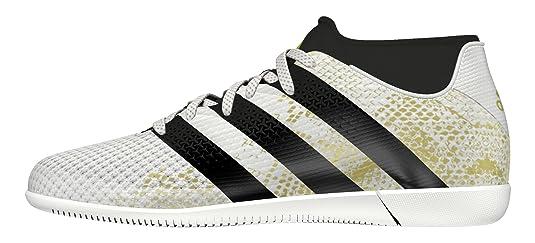 adidas X 16.4 in J, Chaussures de Football Entrainement Mixte Enfant, Blanc (FTWR White/Core Black/Gold Metallic), 36 EU