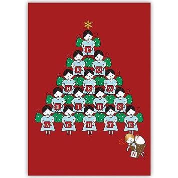 1er Süße Weihnachtsgrüße Mit Engel Weihnachtspyramide Rot