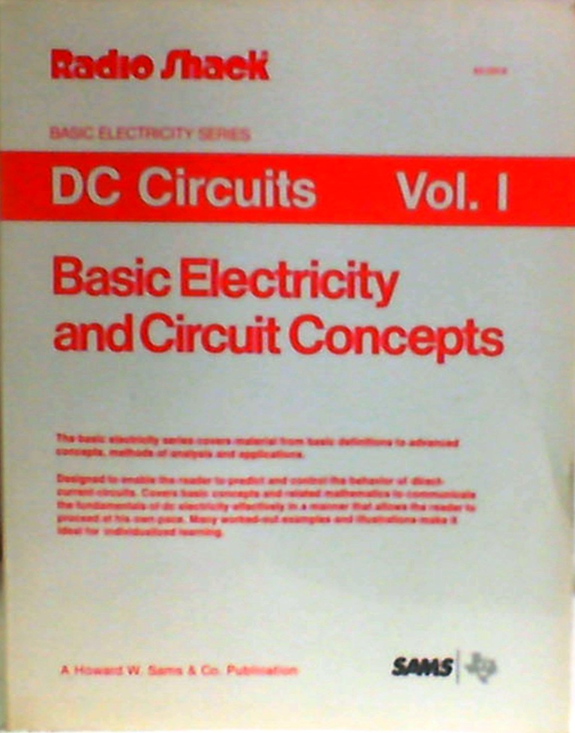 Dc Circuits Vol 1 Basic Electricity And Circuit Concepts Second 2nd The Edition Ralph A Oliva Books