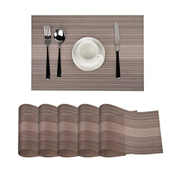 Sets De Table, OIZEN Placemats Set(45*30cm), Lot De 6, Matériaux En ...