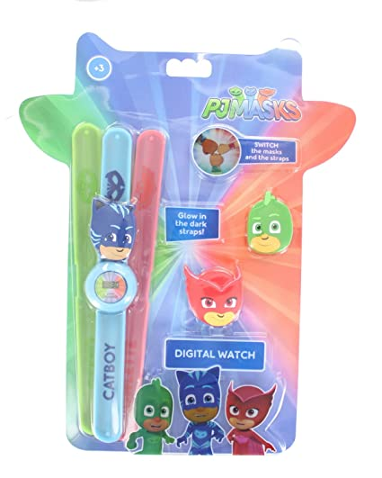 Disney Pj Masks Glow In The Dark Straps Snap Band Wrist Watch