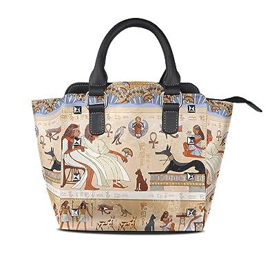 Amazon.com: ALAZA antiguo Egipto mujer escena remache PU ...