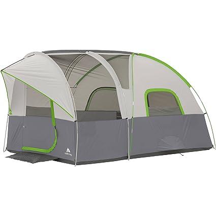 Amazon com : Ozark Trail 12' x 8' Modified Dome Tunnel Tent, Sleeps
