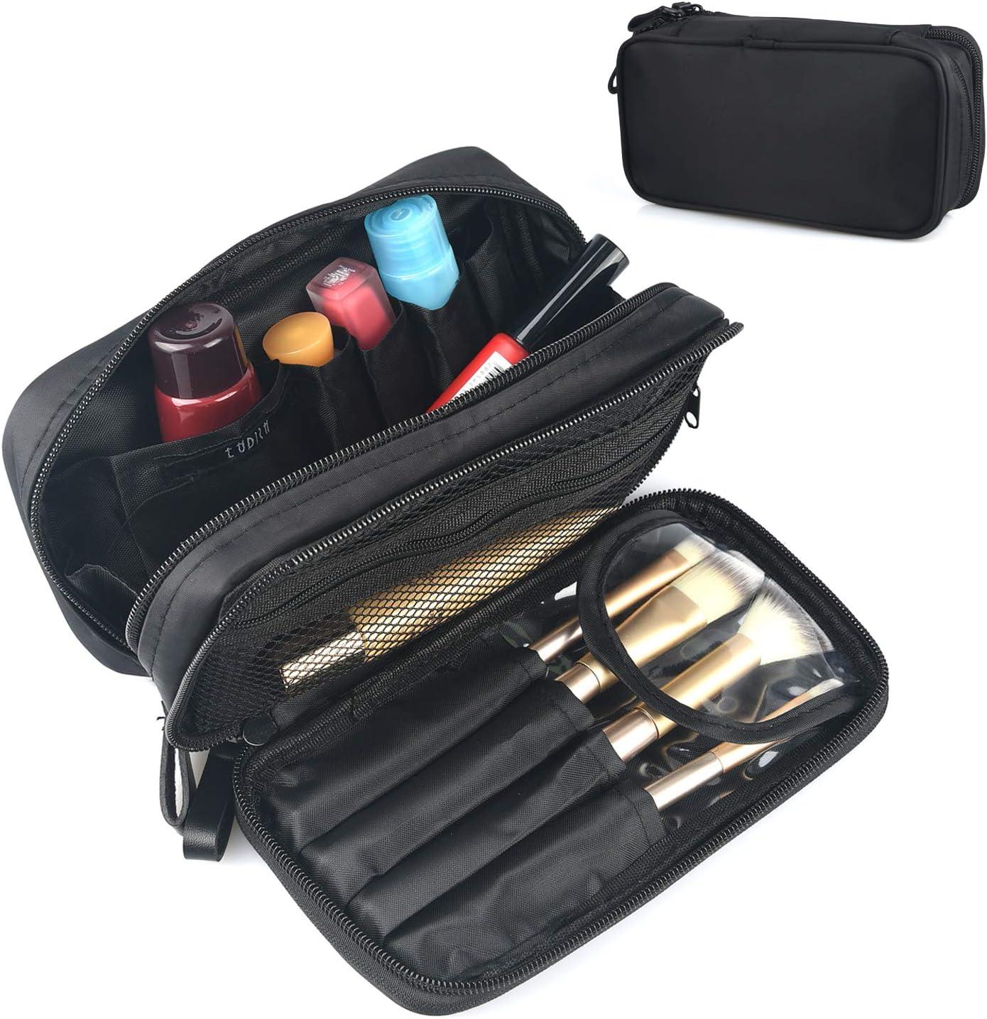 Kosmetiktasche Für Damen Make Up Tasche Schminktasche Kosmetikbeutel Beautycase Reise Kit Organizer Schwarz Amazon De Koffer Rucksäcke Taschen