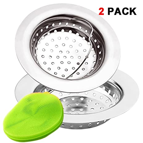 2 Pieces Kitchen Sink Strainer Baskets by EZColoris, with Silica ...