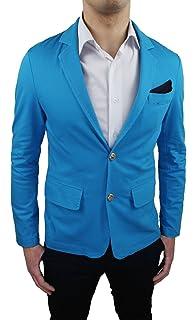 Pull homme col roulé tricot épais bleu jaune chaud confortable ... ede549f5d6ad