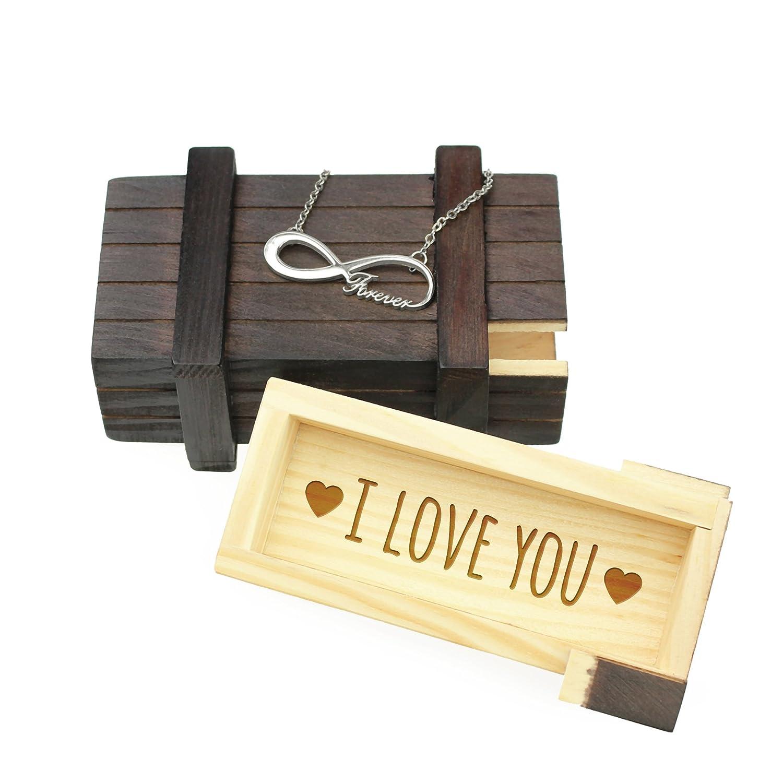 Casa Vivente Puzzle Love Mecanismo de Cierre Secreto y Grabado Caja Regalo M/ágica de Madera Oscura Rompecabezas Obsequios para Mujeres Amor Regalos para San Valent/ín