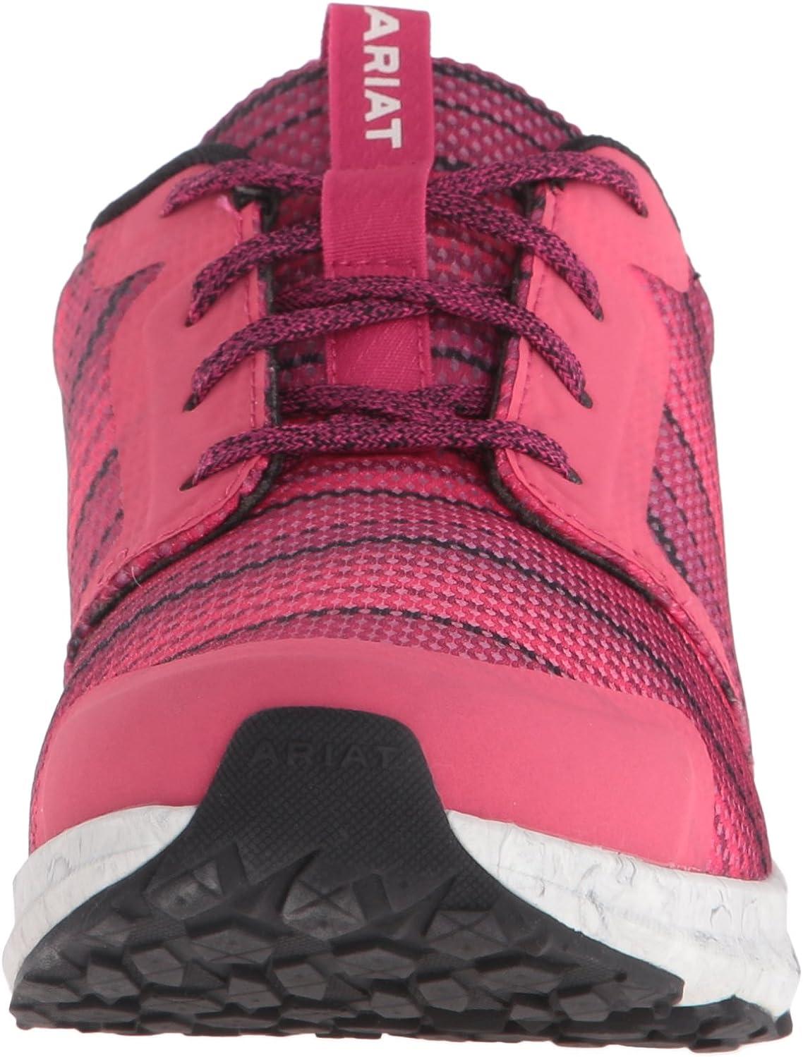 ARIAT Damen Plus Fuse, athletischer Schuh, braun Pinkes Serape Mesh QdBV8