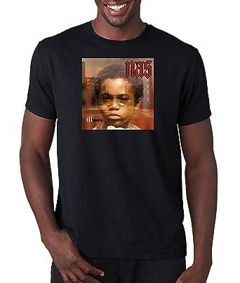 6184fafe Nas Illmatic Album Cover T Shirt Classic Hip Hop Tee Rap Rapper Vintage  Style T-Shirt Nasir Medium, Black: Amazon.ca: Books