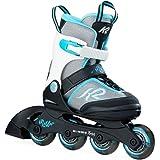 K2 Skate I1702002 Girls Marlee Roller Skate, Silver/Blue - 4-8