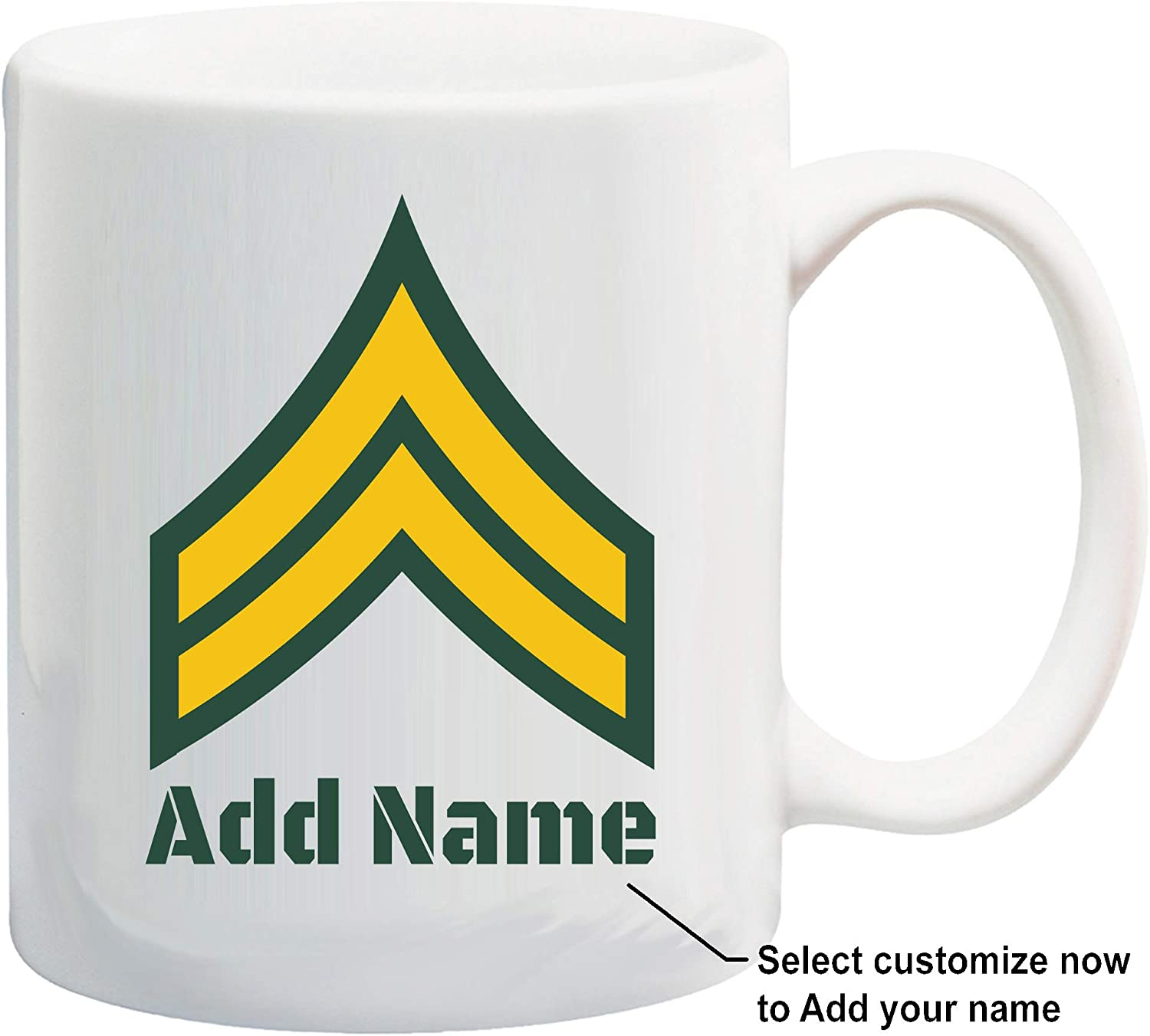 u.s. army customizable rank insignia coffee mug