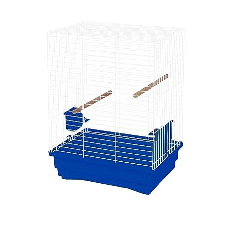 decorwelt Jaula para pájaros XL, Azul, Dimensiones Exteriores 45,5 ...