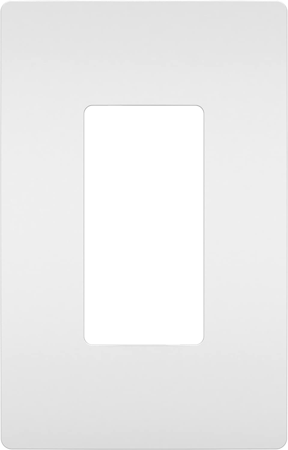 Legrand radiant Screwless Wall Plates for Decorator Rocker Outlets, 1-Gang, White, RWP26WCC10