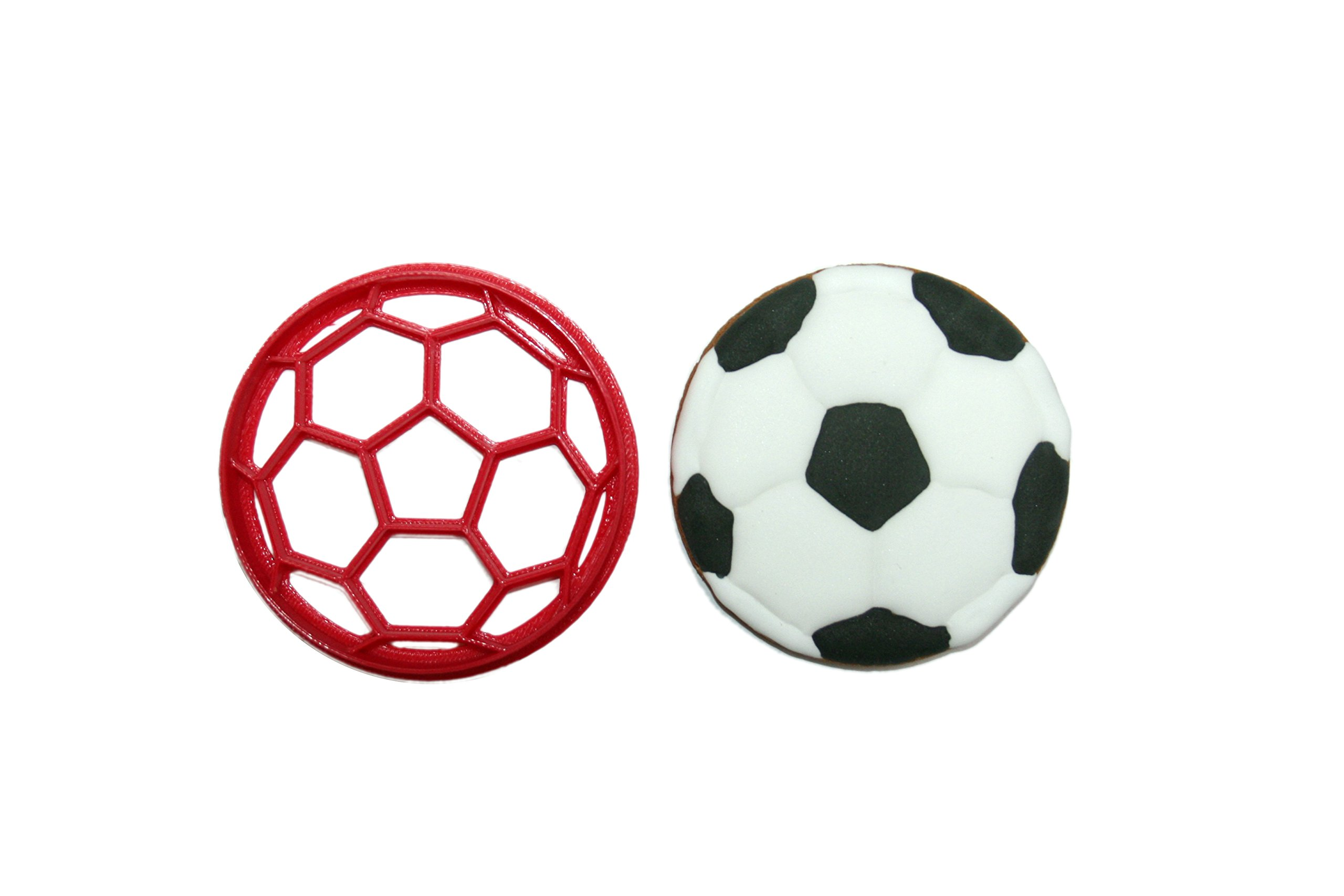 Soccer Ball Cookie Cutter 1 Approx. 3 inches wide by 3 inches tall HANDWASH ONLY Plastic-PLA
