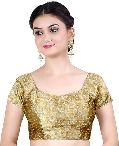 Choli Party Wear Sari Blouse Designer Brocade Blouse Readymade Saree Blouse
