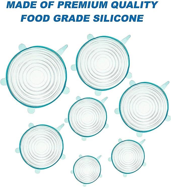 Flexible Silikondeckel ultimativen dehnbaren Instalids-Silikondeckel f/ür mehrere Beh/ältergr/ö/ßen Frischhalten von Lebensmitteln sp/ülmaschinenfest und einfrierend erweiterbar wiederverwendbar 6er-Pack