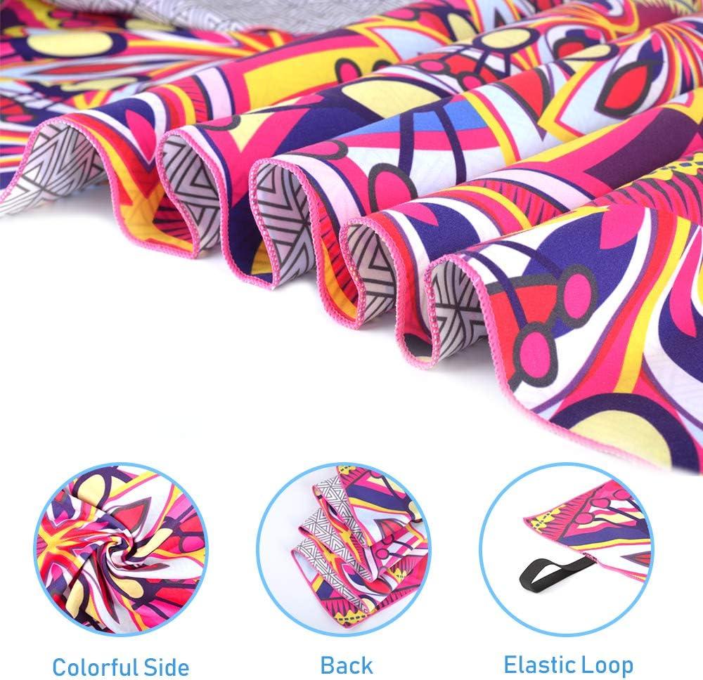 150 * 75cm Toalla de Piscina Grande Mandala Esterilla de Yoga Picnic AtailorBird Toalla de Playa de Microfibra Seque R/ápidamente Patr/ón 1 Absorbente prevenci/ón de Arena para Viaje
