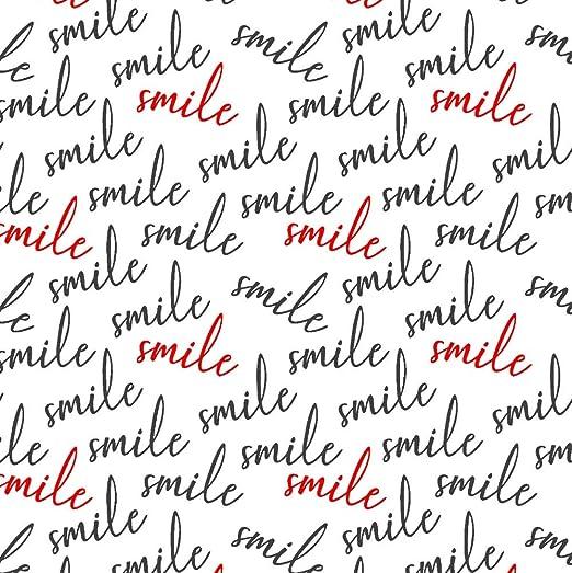 Pingianer 11,99/€//m Smile Schriftzug100x160cm 100/% Baumwolle Baumwollstoff Kinder Meterware Handwerken N/ähen Stoff