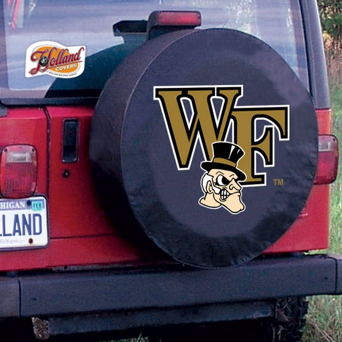 NCAA Wake Forest Demon Deacons Tire Cover