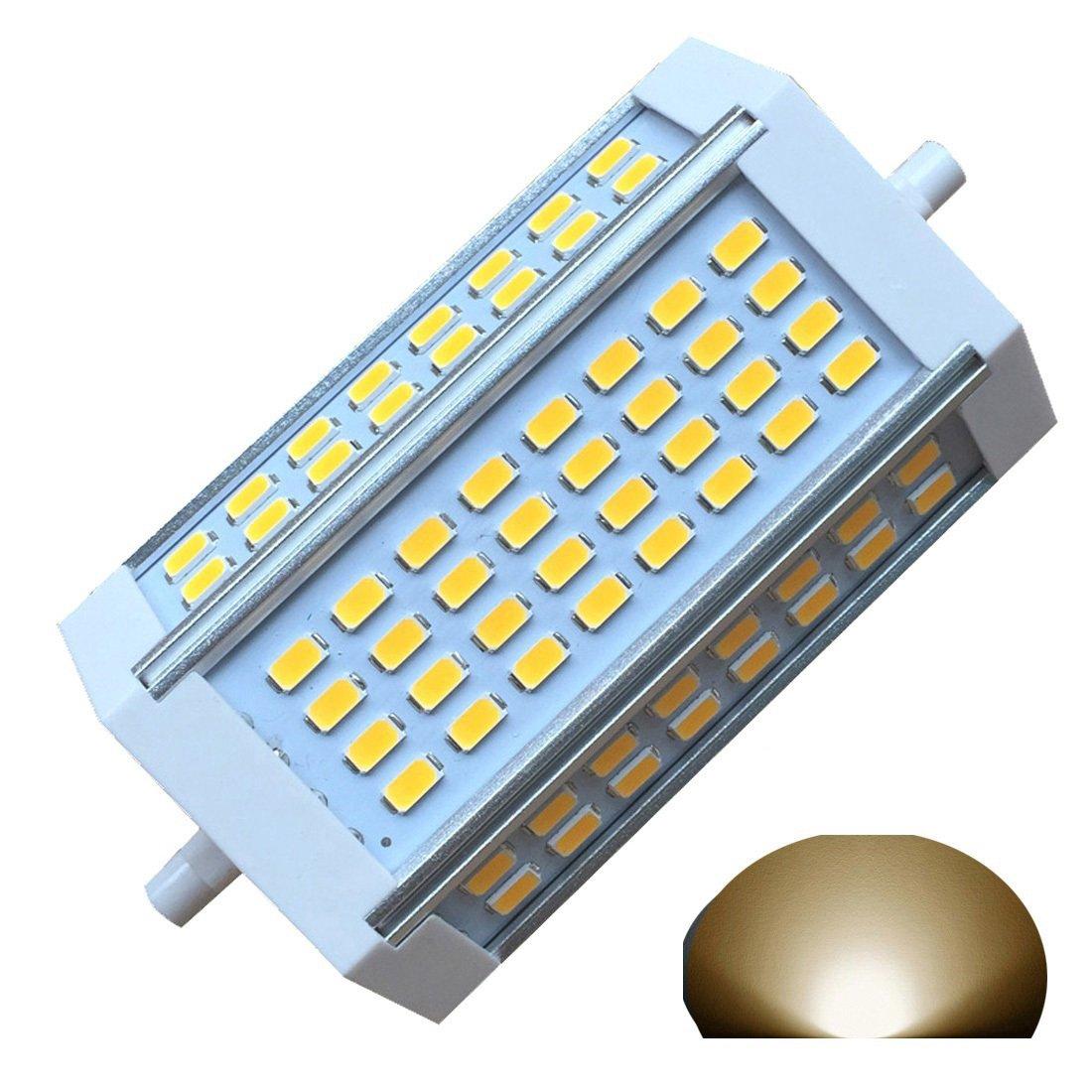 Generic R7s-J118118mm dimmbar Glühbirne 60W Warm Licht 3000K AC220V 3000LM, doppelte Enden J-Floodlight, R7s, 200W, 300W, 400W Halogen-Ersatz (3000K Warmweiß. [Energieklasse A+] 200W 300W QLEE