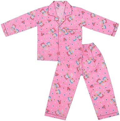 e443022add Kuchipoo Girls' Buttoned Top and Pyjama Set (KUC-NST-108, Pink, 1.5 ...