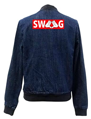Dope Hands Swag Bomber Chaqueta Girls Jeans Certified Freak