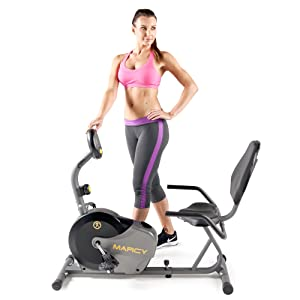 Marcy Magnetic Recumbent Bike with Adjustable Resistance