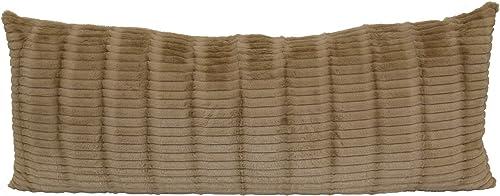 Brentwood Originals Cut Fur Pillow, 20×48, Taupe