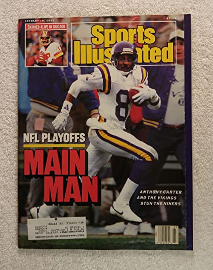 624cf9fdf3e Amazon.com  Anthony Carter - NFL Playoffs - The Minnesota Vikings stun the  San Francisco 49ers - Sports Illustrated - January 18