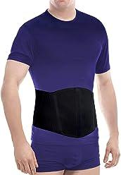 Vendaje de hernia umbilical- banda de circunferencia-fascia abdominal -soporte de hernia umbilical Large Negro