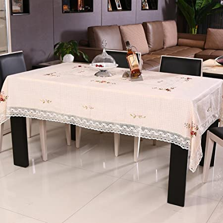 Zb Table Linen Ribbons Embroidered Garden Coffee Table Cloth