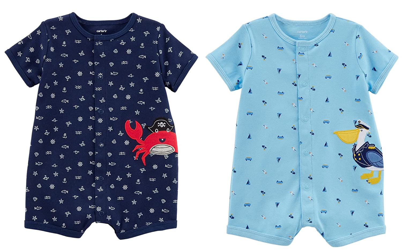 Carter's Baby Blue Clothing SHIRT ベビーボーイズ B07CRJ6SGZ SHIRT Navy Crab and Carter's Blue Pelican 9 Months 9 Months|Navy Crab and Blue Pelican, 会津高田町:08090275 --- itxassou.fr