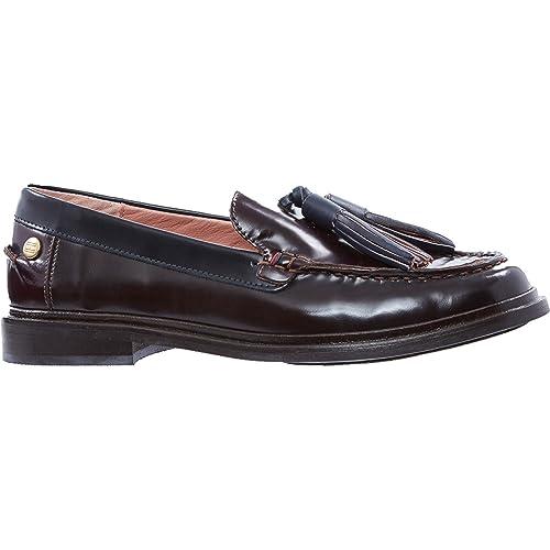Tommy Hilfiger - Mocasines de Otra Piel para mujer, color marrón, talla 40: Amazon.es: Zapatos y complementos