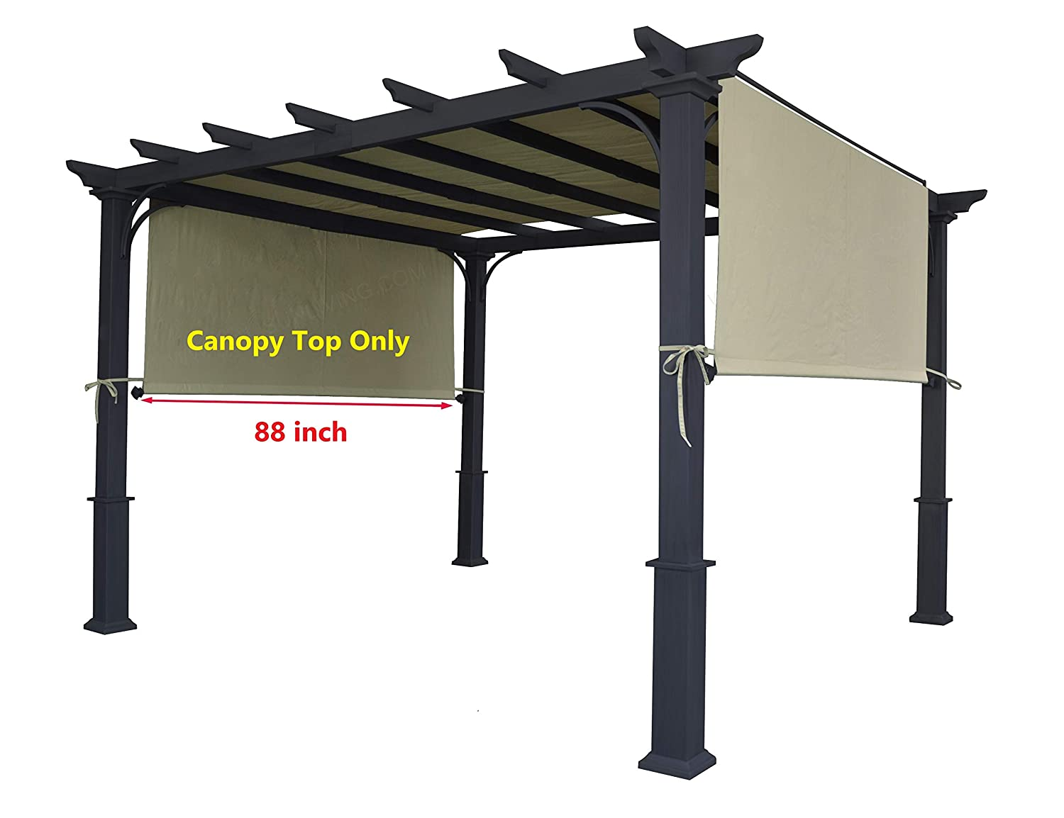 ALISUN Universal Pergola Canopy Top for 8' x 10' Pergola Structure - Beige (Canopy Top Only, Size: 196 x 88) Size: 196 x 88)