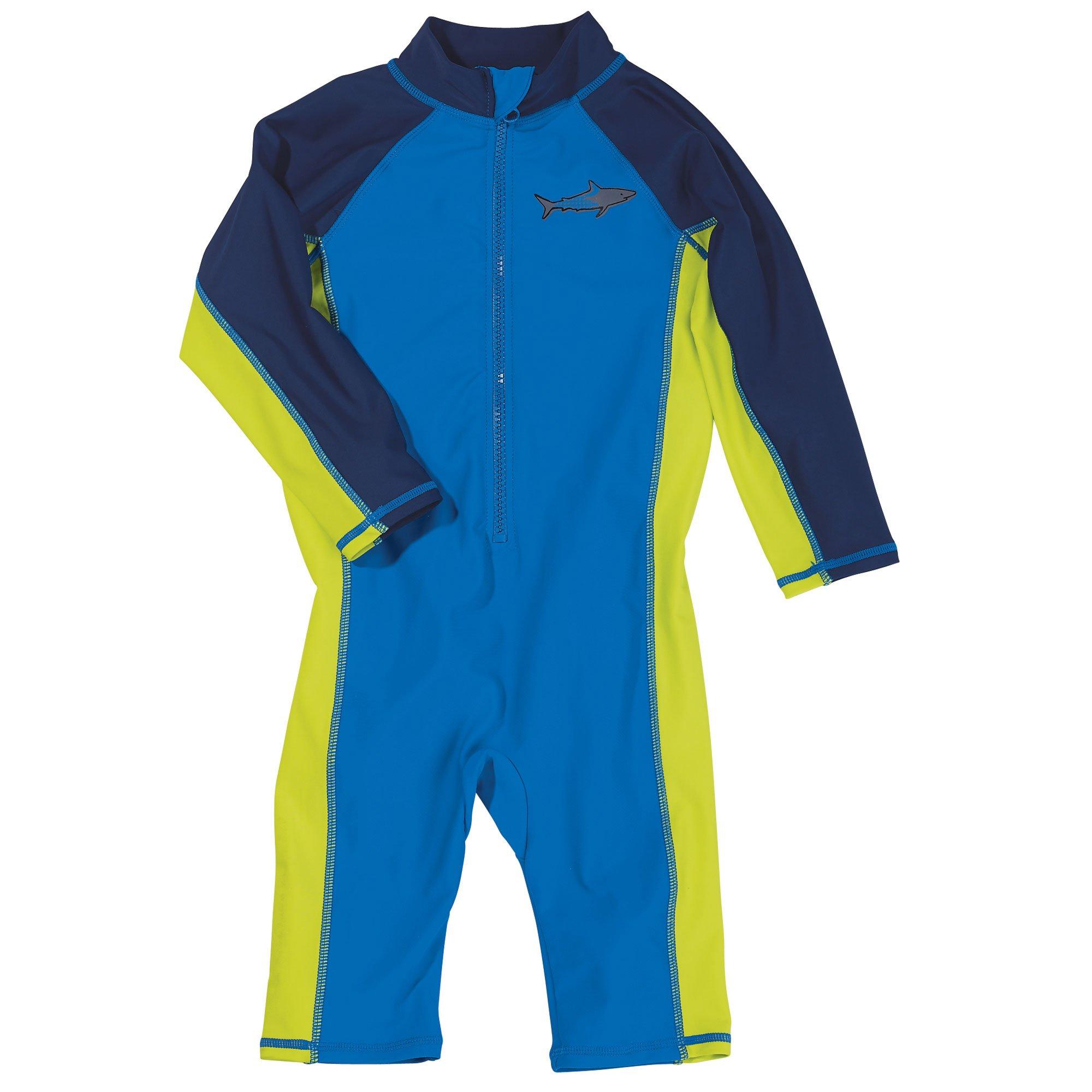 Sun Smarties Toddler Boys UPF 50+ Sun Protection Shark Surf Suit Sunsuit 4T Blue