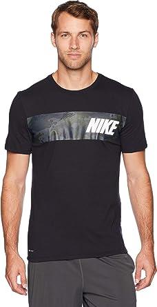 ad1c89ae5 Nike Men's Dry Tee Dri-FIT Cotton Block Camo Black/Dark Grey X-Large ...