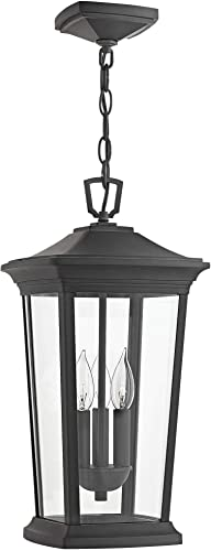 Hinkley 2362MB Bromley Hanging Lantern, with Museum Black Finish