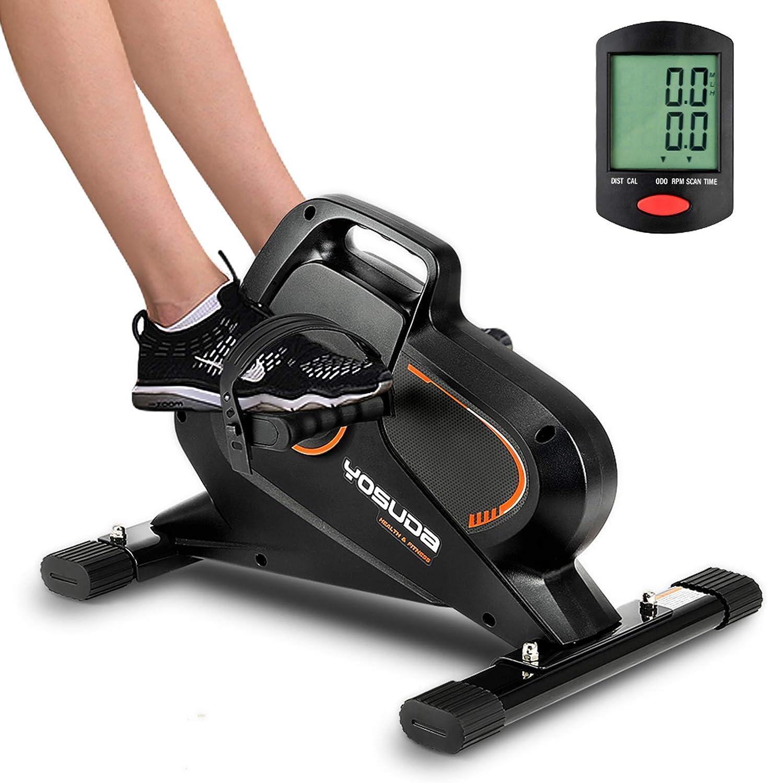 YOSUDA Under Desk Bike Pedal Exerciser - Magnetic Mini Exercise Bike for Arm /Leg Exercise, Desk Pedal Bike for Home/ Office Workout