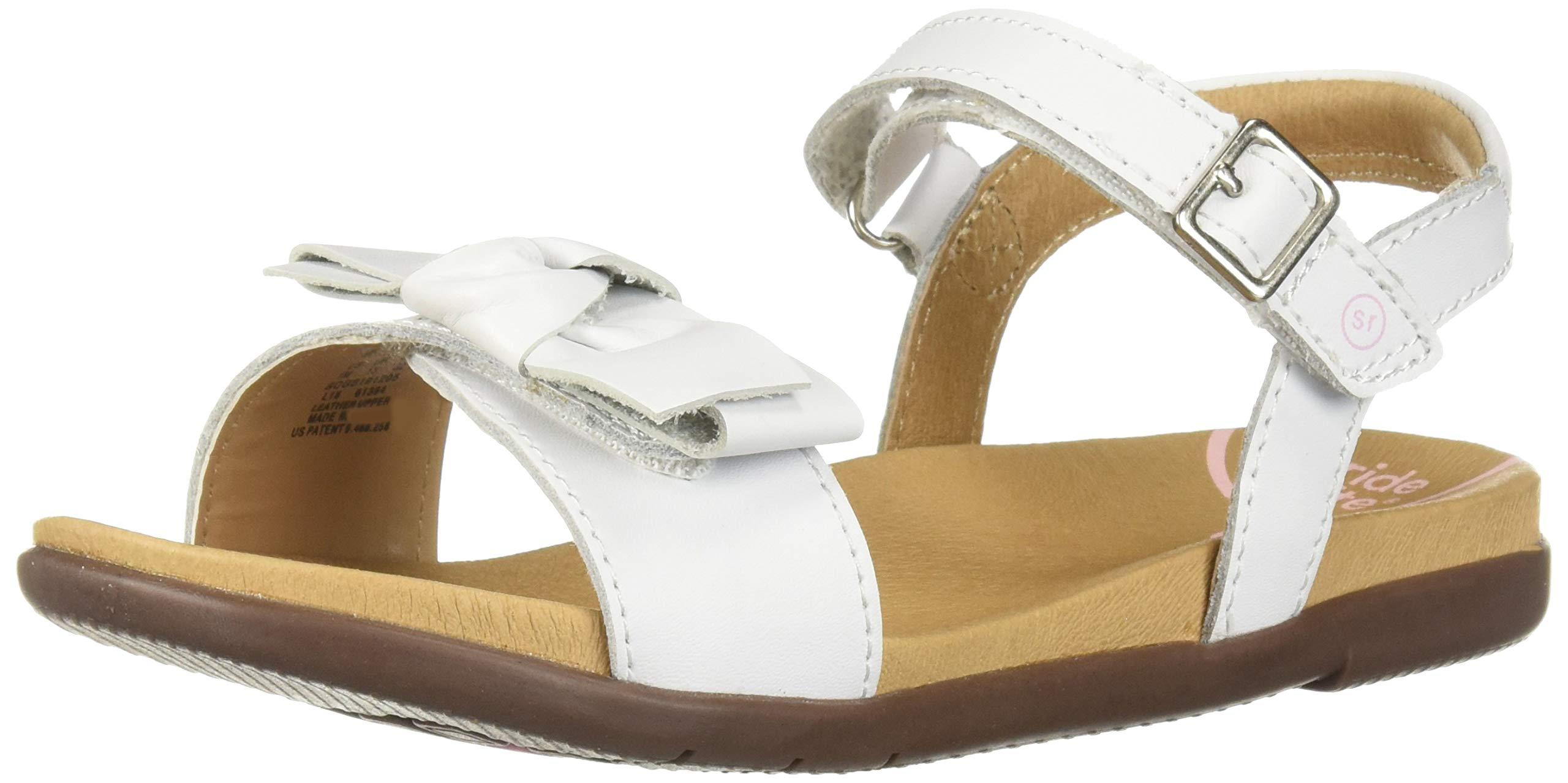 Stride Rite SRTech Savannah Girl's Sandal, White, 9 M US Toddler
